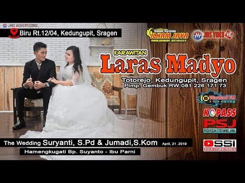 🔴PART 2 LIVE KARAWITAN LARAS MADYO//ILHAM JAYA SOUNDSYSTEM//WARDANI FM// JMS VIDEO HD