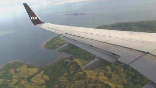 Fiji Airways B737-800 Landing Nadi Fiji