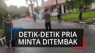 Video Detik-detik Pria Tak Dikenal Masuk Polda Kendari Tantang Petugas dan Minta untuk Ditembak