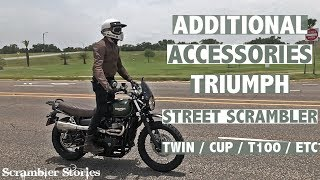 Additional Accessories For The Triumph Street Scrambler | Street Twin | Street Cup | Modern Classics