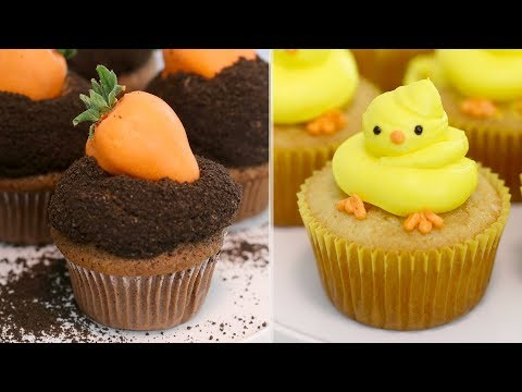 Baby Chick & Carrot Patch Cupcakes | EASY Easter Cupcake Decorating Tricks | RECIPE