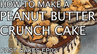 how to make peanut butter cake from box mix