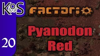 Factorio Pyanodon Red Ep 1: HARSH NEW PLANET! - 0 16 - Gameplay