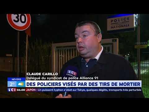 Des policiers visés par des tirs de mortier Des policiers visés par des tirs de mortier