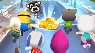 Tom Gold Run VS Masha Run VS Subway Surfers VS Despicable Me Minion Rush VS Angela VS Hank