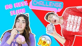 NO MESS SLIME CHALLENGE | Making messy slime the cleanest way | Slimeatory #133