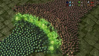5000  BANELINGS vs 5000 MARINES - Starcarft 2 MASSIVE Battle