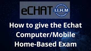IIHM E-CHAT EXAMINATION FROM HOME
