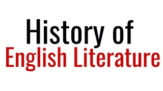 History Of English Literature In Hindi By Study Lovers