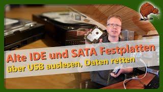 Alte SATA- und IDE-Festplatten über USB auslesen - Teil 1