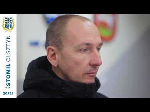 Adam Majewski po sparingu Huragan Morąg - Stomil Olsztyn