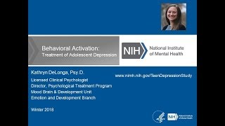 Behavioral Activation: Treatment of Adolescent Depression