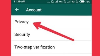 Whatsapp Privacy Settings in Android