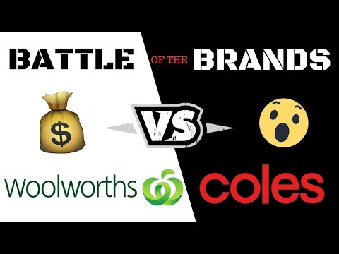 COLES VS WOOLWORTHS - WHO'S CHEAPER??? | Battle of the brands 2018