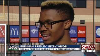 FNL Player of the Week: Brennan Presley, Bixby