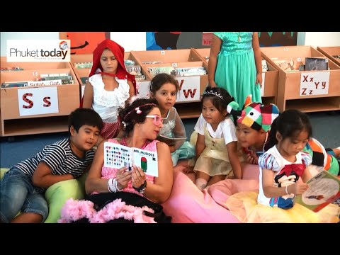 Kids go to school in character for BIS Phuket's Book Day