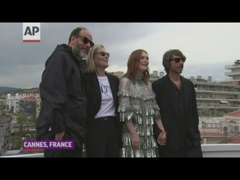 Speaking at a presser for 'The Staggering Girl' in Cannes, actress Julianne Moore described the human need to dress up. (May 18)