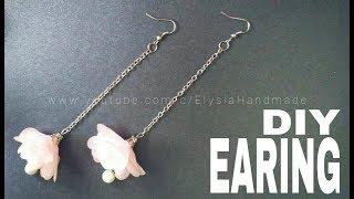 How To Make : Flower Earring Eith Chiffon Frill | DIY by Elysia Handmade | Kholo.pk