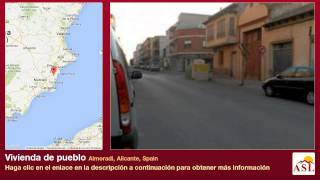 preview picture of video 'Vivienda de pueblo se Vende en Almoradi, Alicante, Spain'
