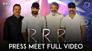 RRR Press Meet Full Video - NTR, Ram Charan   SS Rajamouli   DVV Danayya