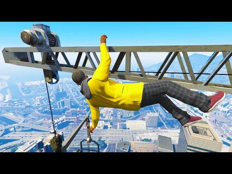 GTA 5 Funny/Crazy Jump Compilation #8 (GTA V Fails Funny Moments)