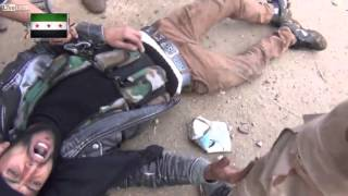 Insurgent gets shot in Syria (video)
