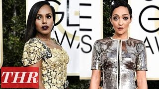 Golden Globes 2017 Best Dressed With Donald Glover Ruth Negga Kerry Washington & More