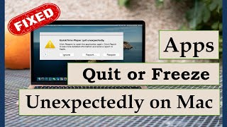 Apps Quits or Freeze Unexpectedly on Mac (Here is the Fix)