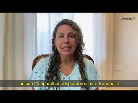 Cordélia grava vídeo pedindo retorno do prefeito a Deputado Federal que quer enviar respiradores