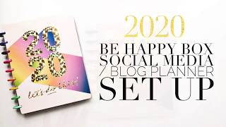 2020 Happy Planner + The Social Type // Social Media & Blog Planner Setup