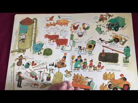 """Wimmelbuch """"Bei uns im Dorf"""" von Ali Mitgutsch (Ravensburger) - Babykanal mit Papa - Review"""