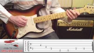 How To Play Money by Pink Floyd on Guitar (main riff) + TAB