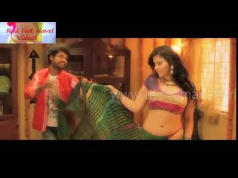 Tamil saree removing and navel show