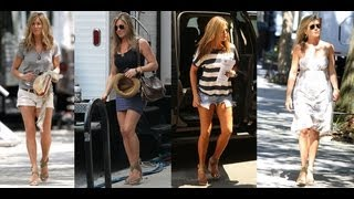 Jennifer Anistons Secret To Perfect Summer Legs | Celebrity Style | POPSUGAR Fashion