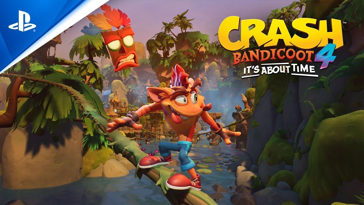 Crash Bandicoot 4: It's About Time выйдет на PS4 уже 2 октября