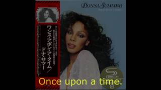 "Donna Summer - Once Upon A Time LYRICS - SHM ""Once Upon A Time"" 1977"