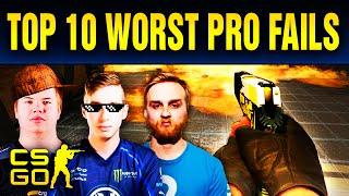 Top 10 Cringiest Pro Fails In CS:GO History
