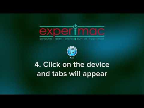Experimac Tip 18: Sync iTunes