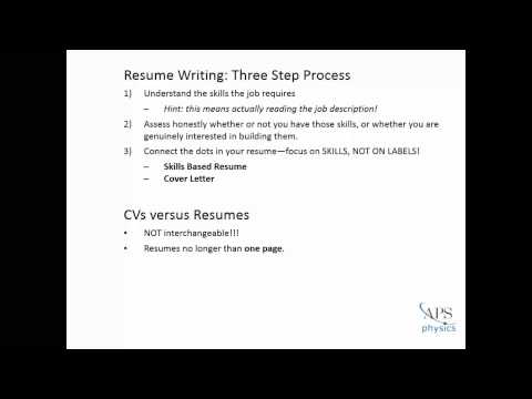 Video How to Write an Effective Resume