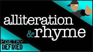 Alliteration & Rhyme, #PoetryDefined