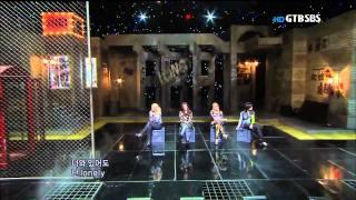 [투애니원,론니] 110529 , 인기가요. 2NE1 - Lonely
