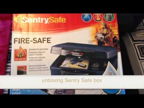 unboxing Sentry Safe SentrySafe box