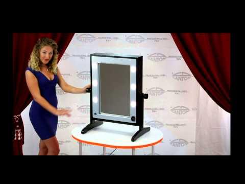 video LTVx2 Miroir de maquillage double avec 12 lumière i-light