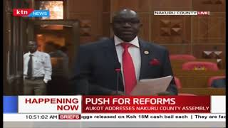 PUNGUZA MIZIGO BILL: Ekuru Aukot lobbies for bill at Nakuru County Assembly