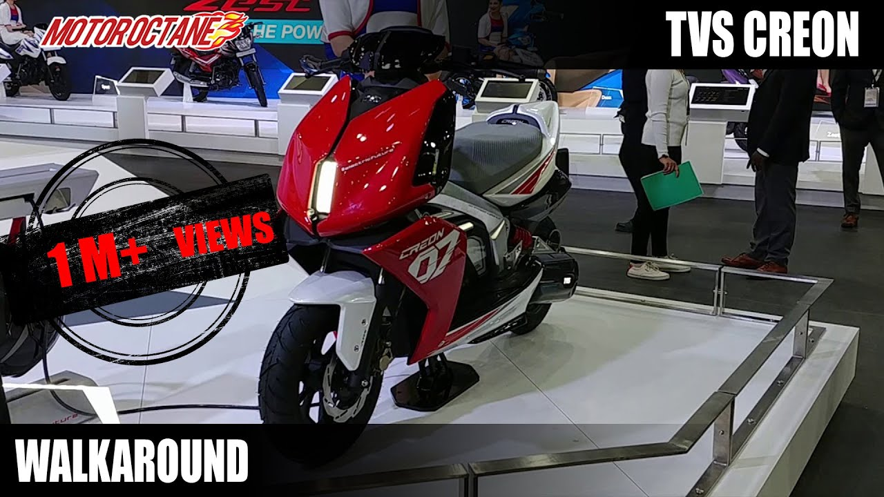 Motoroctane Youtube Video - TVS Creon Electric Scooter Concept Walkaround (Hindi)