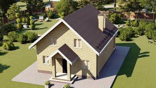 Проект дома 124-A, Площадь дома: 124 м2, Размер дома:  8x10 м