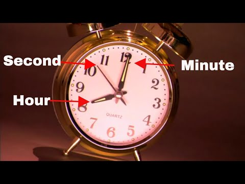 How to tell time with a second hand-Learning the clock