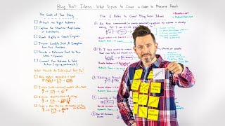 Blog post ideas - Whiteboard Friday