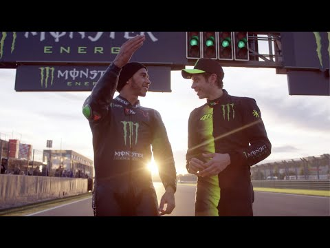 Image: WATCH | Lewis Hamilton and Valentino Rossi out on track!