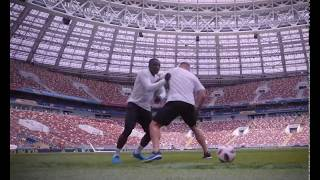 Lukas Podolski. Стадион Лужники. Football Freestyle